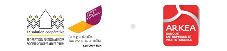 Signature d'une convention entre la Fédération des Coop Hlm et Arkéa Banque E&I