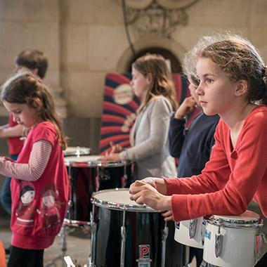 Jeunes musiciens de l'Orchestre Symphonique de Bretagne en répétition
