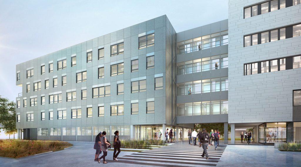 image -Le Groupe Fayat réalise 4 bâtiments du Pôle Sciences Humaines et Sociales